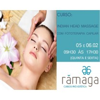 Indian Head Massage com Fototerapia Capilar