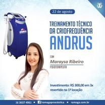 Treinamento Técnico Criofrequência Andrus - 22/08/2017