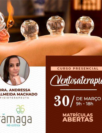Curso Ventosaterapia – 30/03/2020 – CANCELADO – Em breve nova data